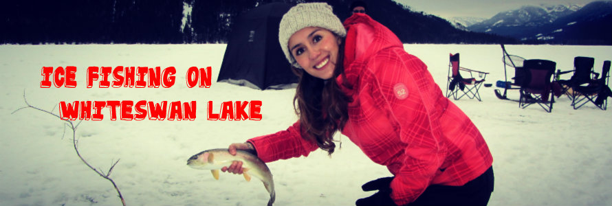 ice fishing on whiteswan lake