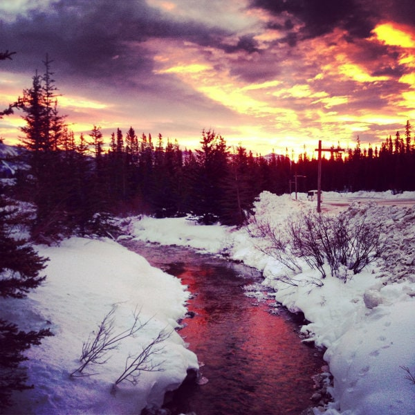 Sunrise Lake Louise Alberta