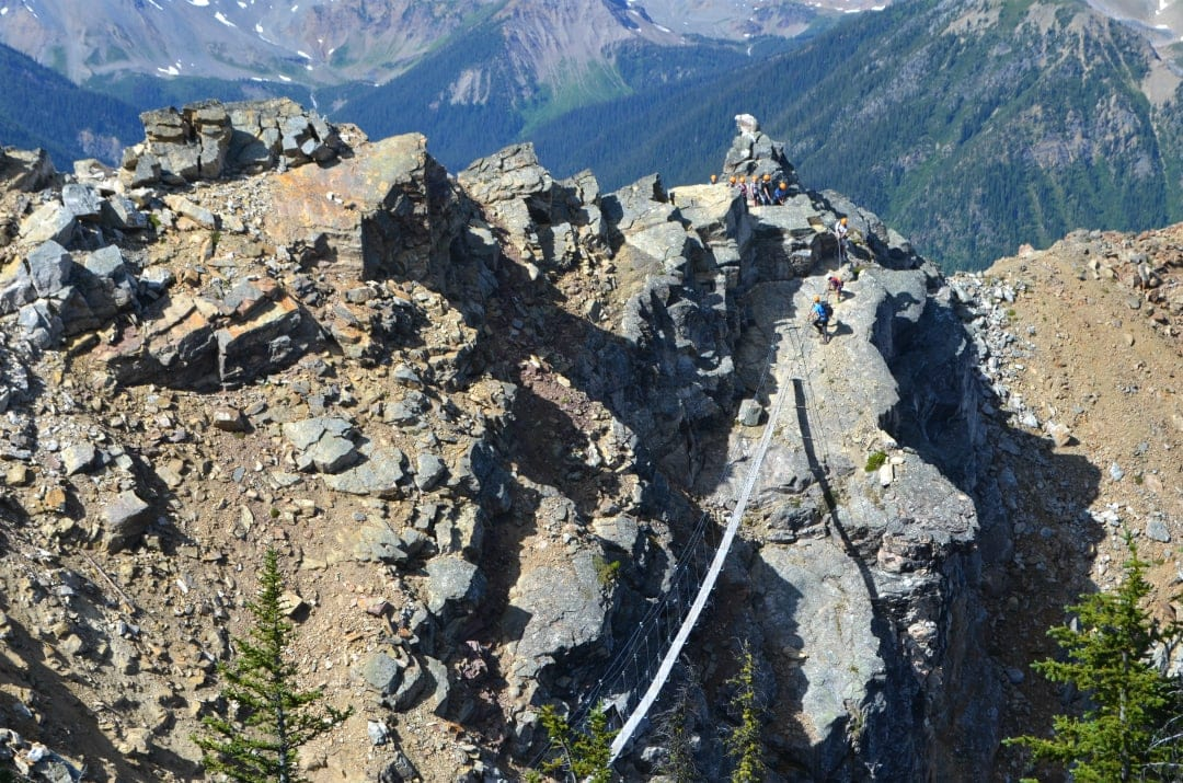 Via Ferrata en Kicking Horse Resort