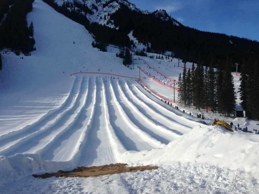 tubing at mount norquay