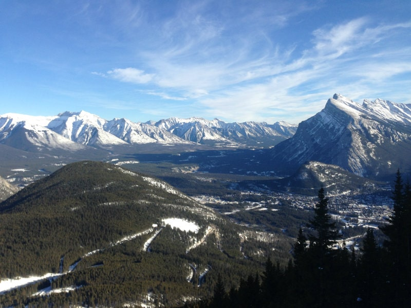 views from Mount Norquay, Banff