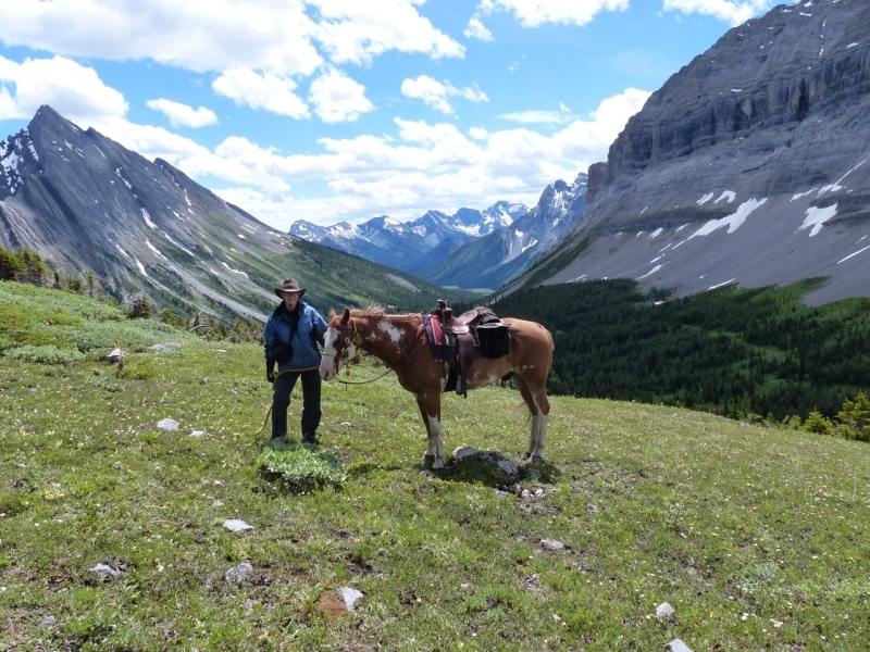 Canadian Rockies on horseback