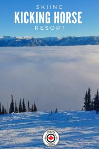 Skiing at Kicking Horse Resort