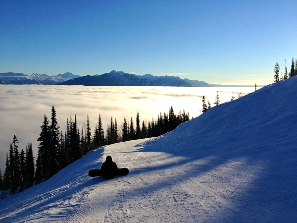 kicking horse bc sunset