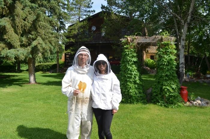 experiencing a bee farm