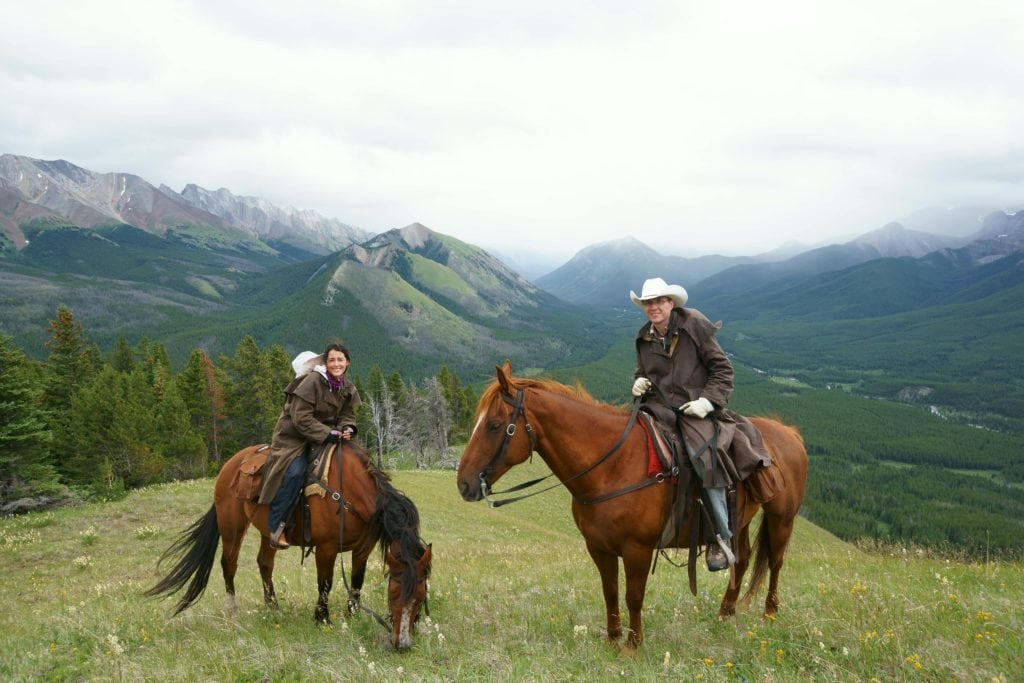 horseback riding Canadian Rockies