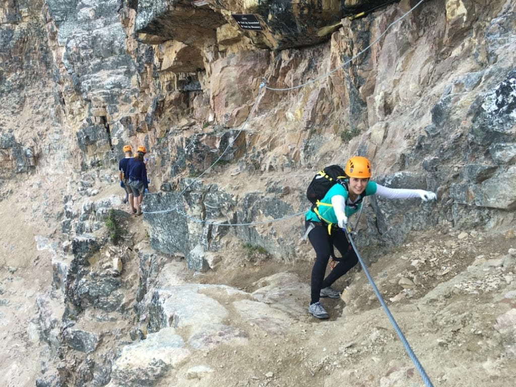 via ferrata kicking horse resort