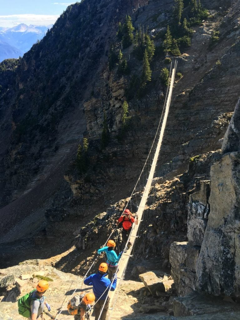 suspension bridge kicking horse resort