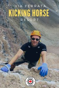Exploring the Via Ferrata at Kicking Horse Resort