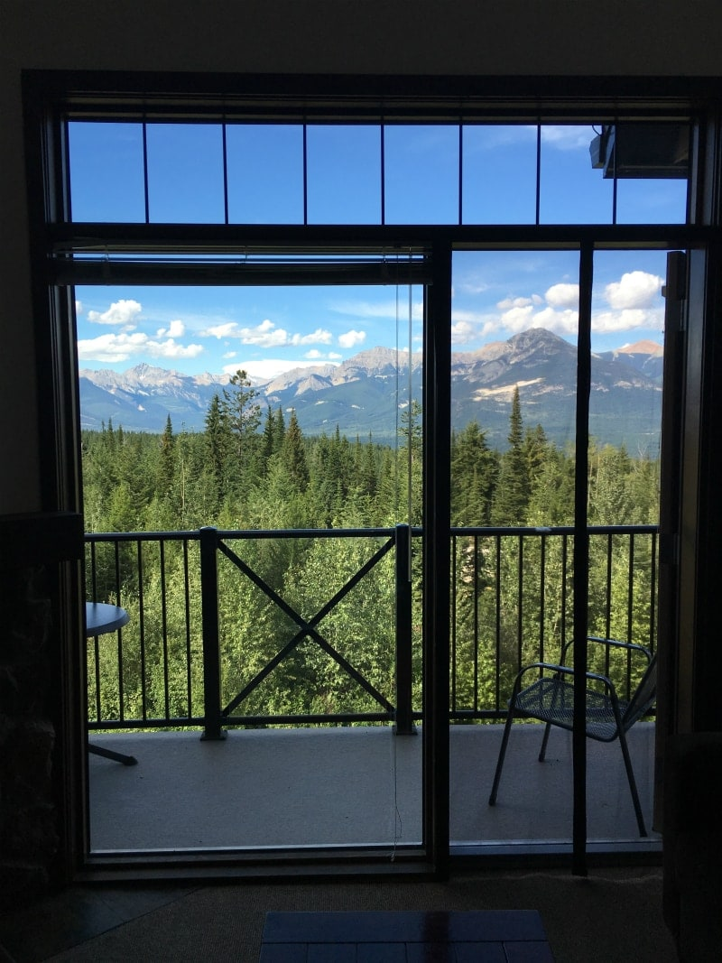 View from Glacier Mountaineer Lodge