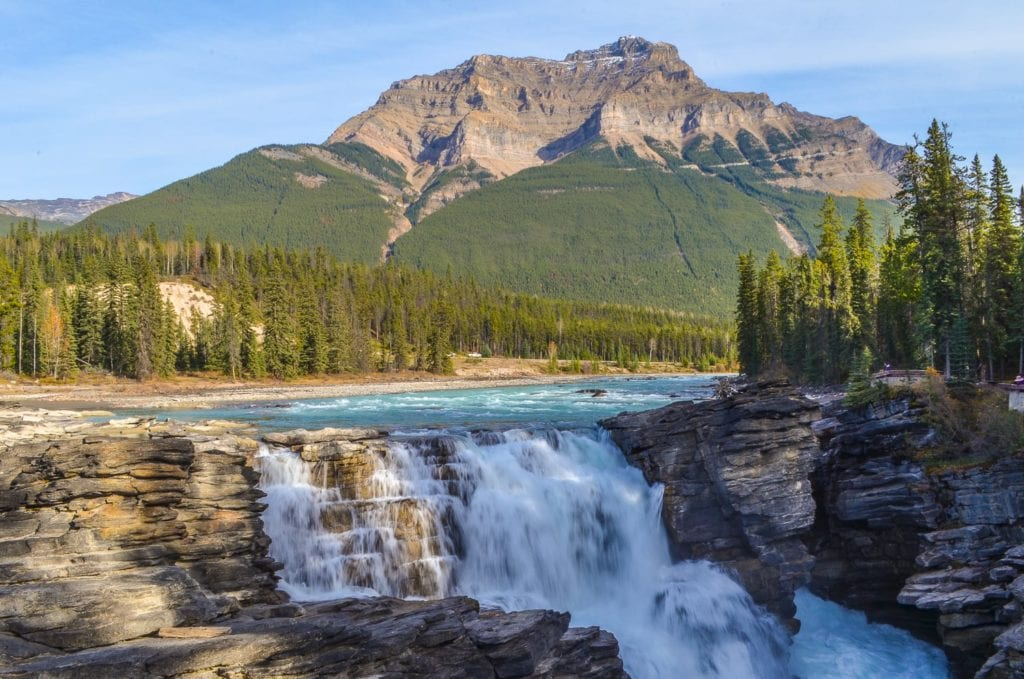 Athabasca Falls - sights to see in Jasper
