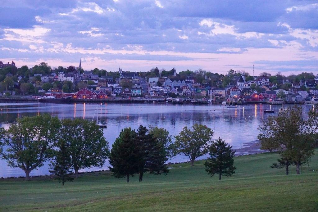 Lunenburg, Nova Scotia at night