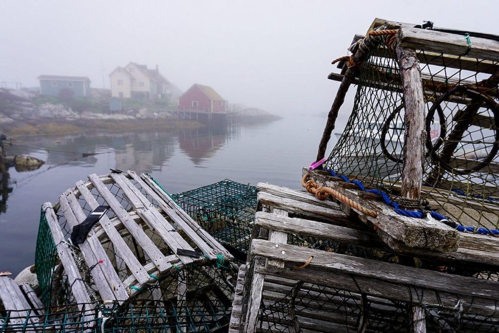 Lobster Traps at Peggy's Cove, Nova Scotia