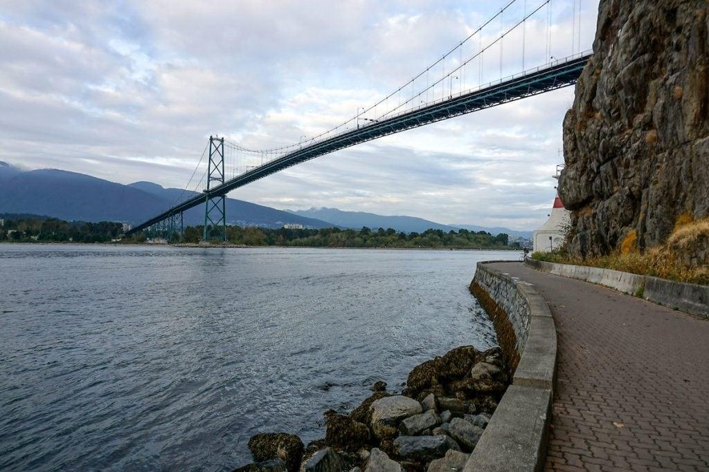 Lions Gate Bridge, Stanley Park, Vancouver BC
