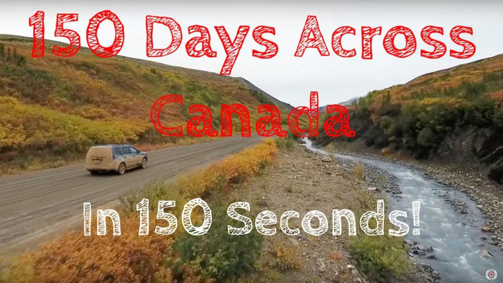 Road Trip Canada 150 seconds