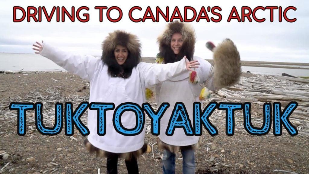Driving to the Arctic Ocean – Exploring Tuktoyaktuk