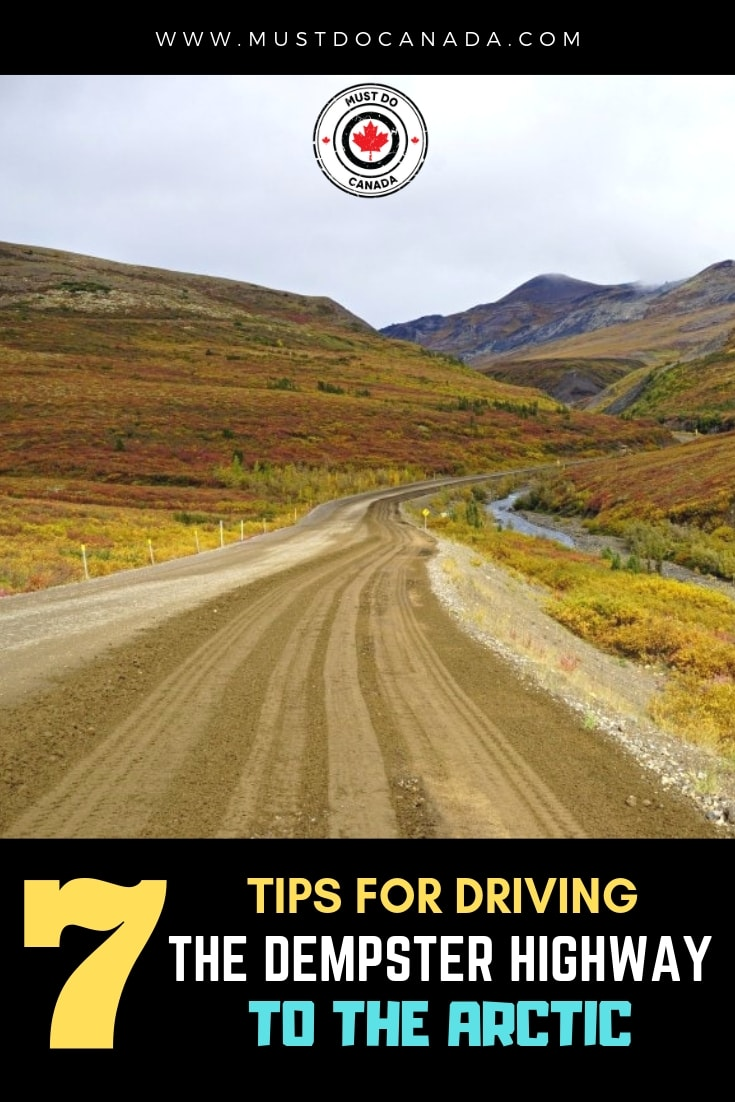 driving the dempster highway to the arctic ocean