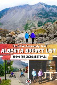 Biking the Crowsnest Pass