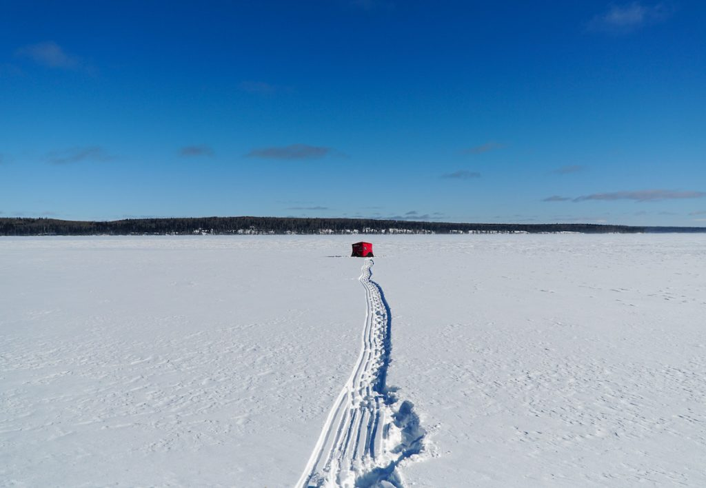 Ice Fishing Waskesiu Saskatchewan