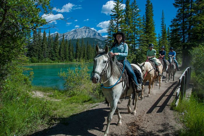 Horseback riding banff alberta canada