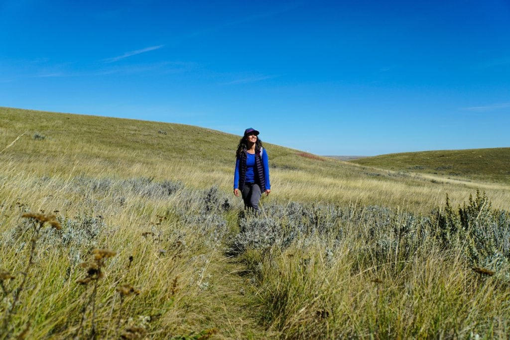 hiking grasslands national park saskatchewan
