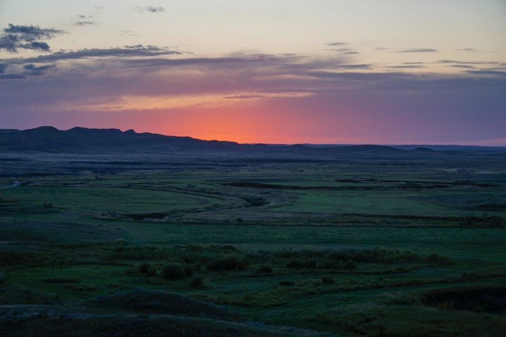 sunset in Grasslands National Park, Saskatchewan
