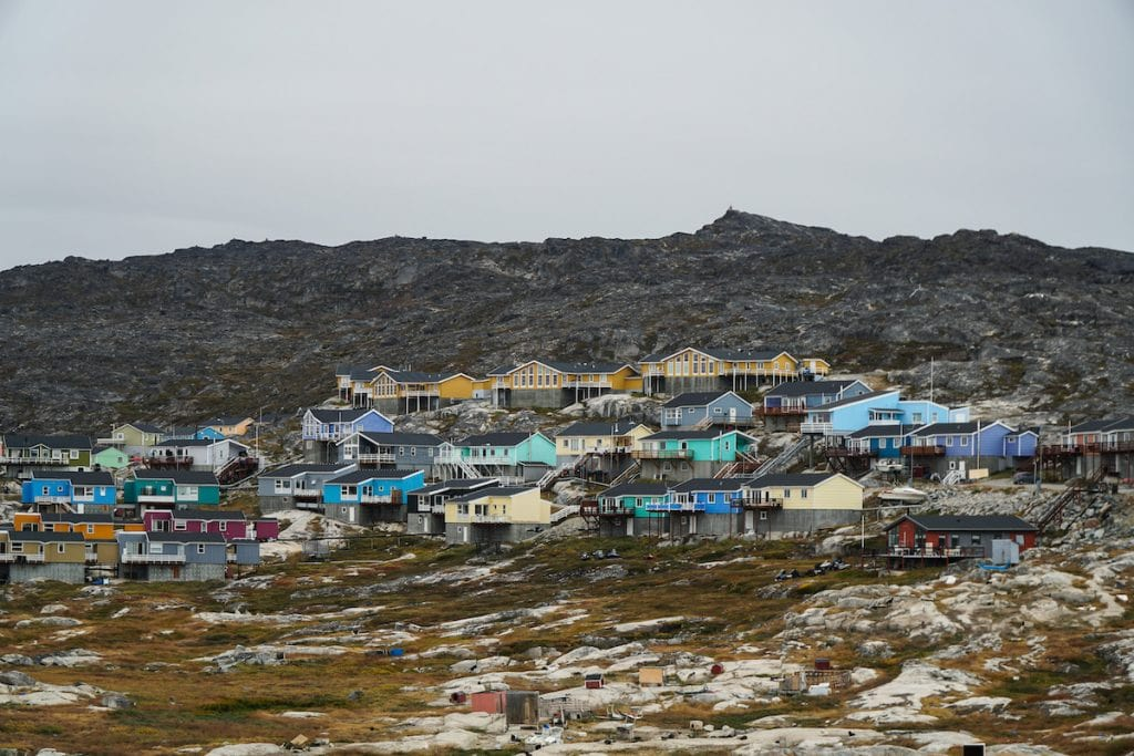 the town of ilulissat, greenland