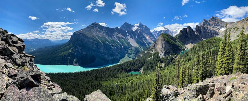 Views from Little Beehive, Lake Louise, Alberta