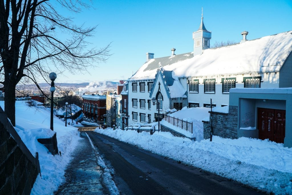 quebec city in the winter