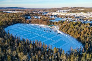 World Pond Hockey Championship New Brunswick Drone