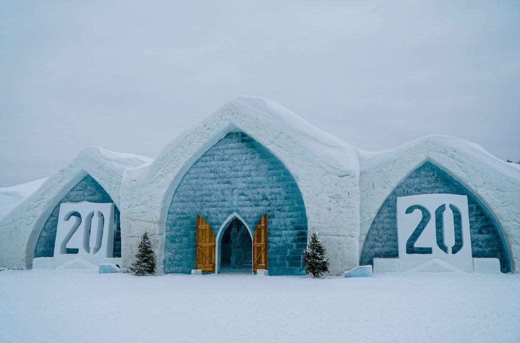 hotel de glace quebec city