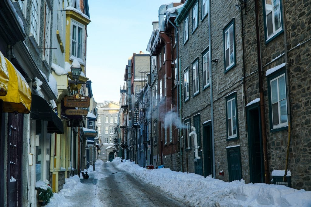 Old Quebec City in the Winter