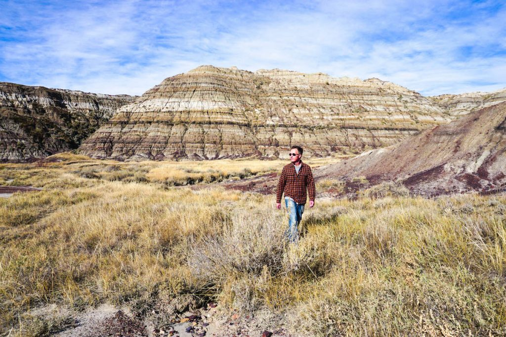 Matt hiking in Drumheller, Alberta