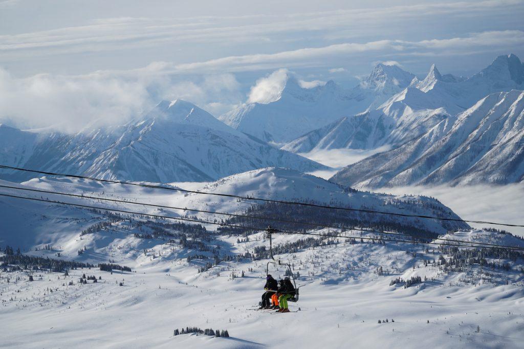 Skiing at Sunshine Village Banff National Park