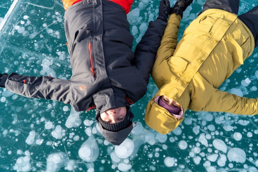 Abraham Lake Ice bubbles - Nordegg