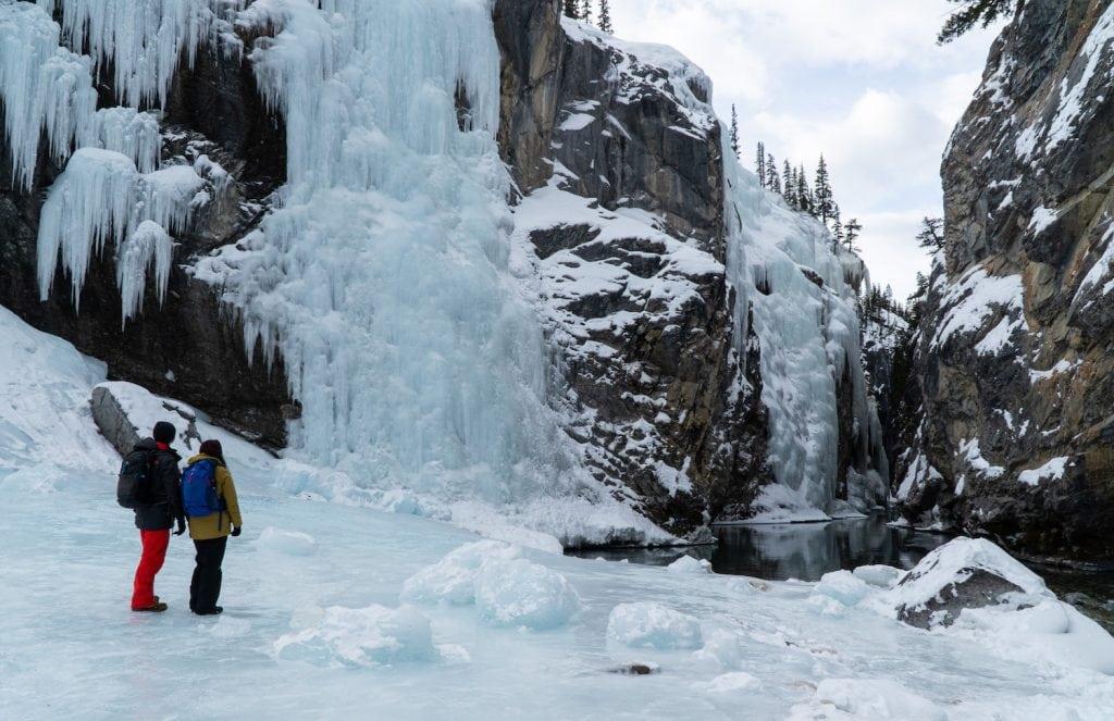 Cline River Icefalls - Nordegg Alberta