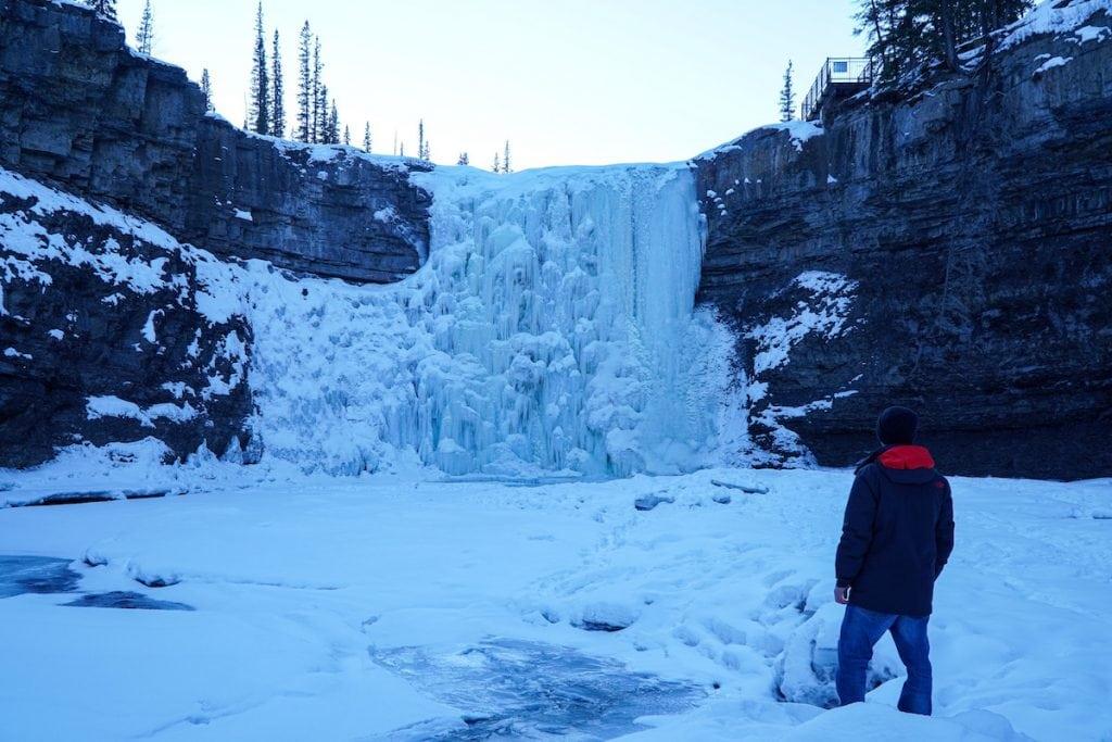 Crescent Falls in the Winter - Nordegg Alberta