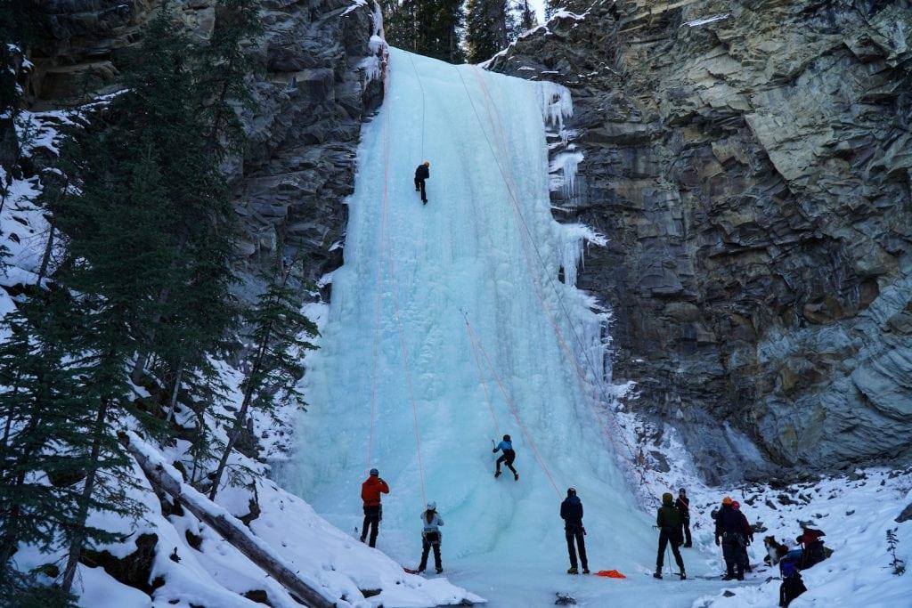 Ice Climbing with Girth Hitch Guiding - Nordegg