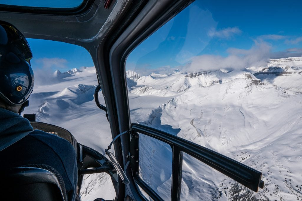 Helicopter Flights in the Rocky Mountains - Nordegg Alberta