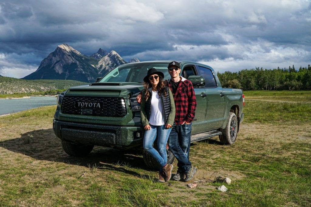 Toyota Tundra Abraham Lake Alberta Canada