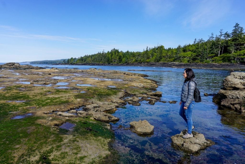 hiking around tofino, british columbia