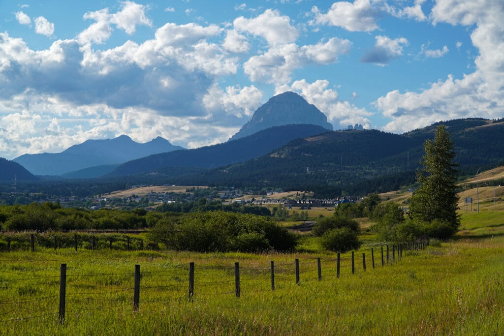 Crowsnest Mountain from Blairmore