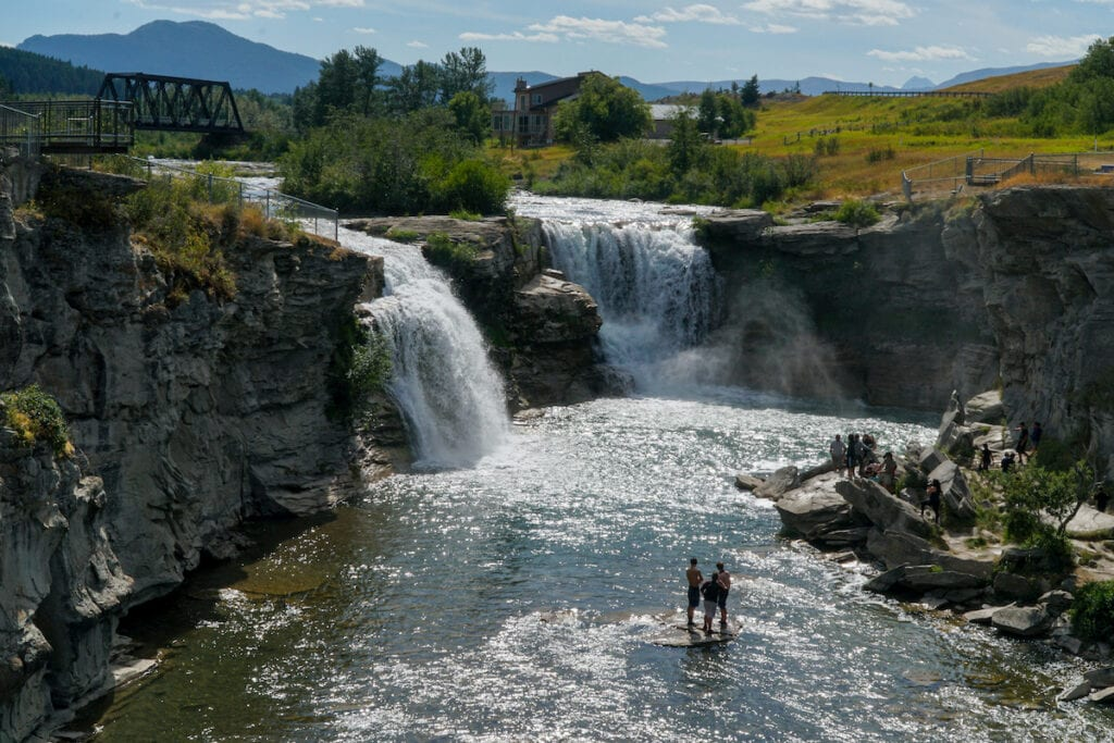 Lundbreck Falls Crowsnest Pass Alberta