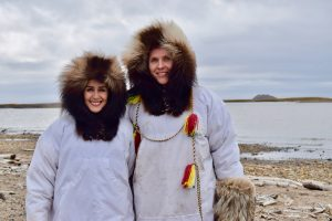 Traditional Inuit clothing in Tuktoyaktuk, NWT
