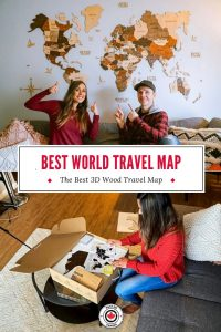 Best Wood World Travel Map