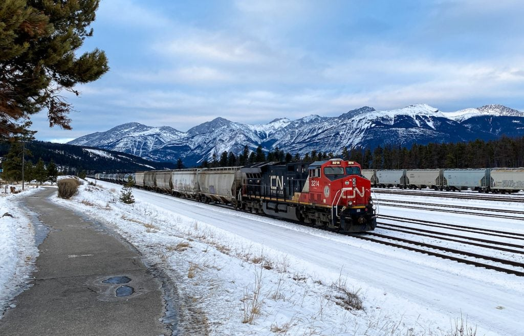 Trains in Jasper, Alberta - Jasper National Park