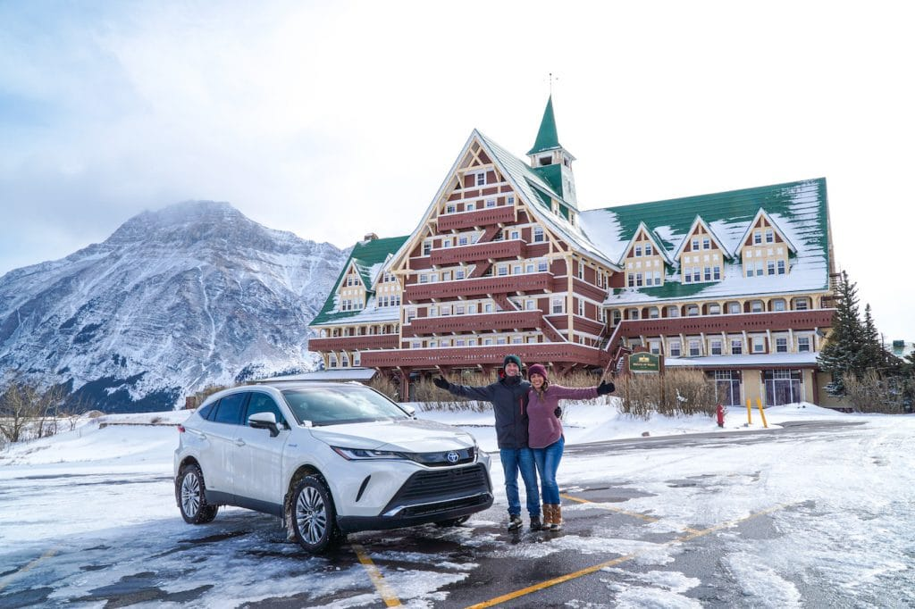 Winter in Waterton with the 2021 Toyota Venza
