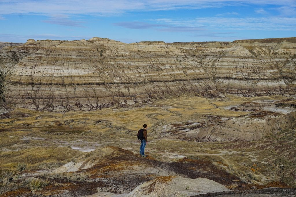Camping in Alberta's Drumheller is a great way to experience the Canadian Badlands.