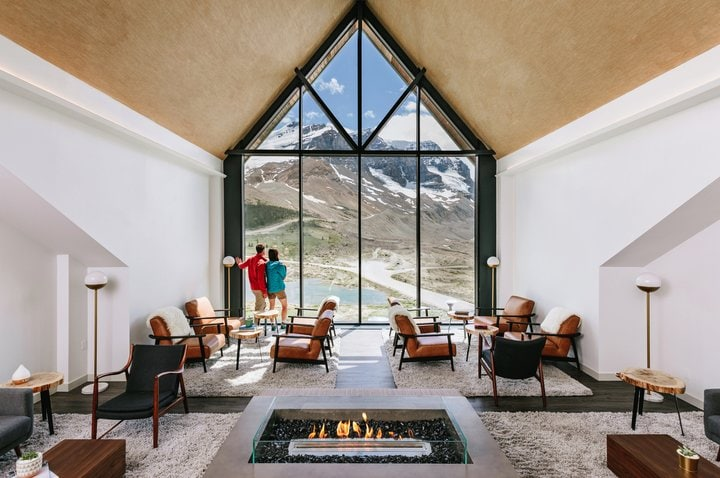 Glacier View Lodge is a truly unique romantic getaway in Alberta and is on the Icefields Parkway.