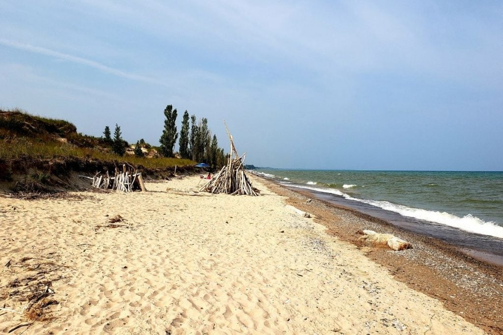Camping in Ontario at the sandy beaches of Pinery Provincial Park